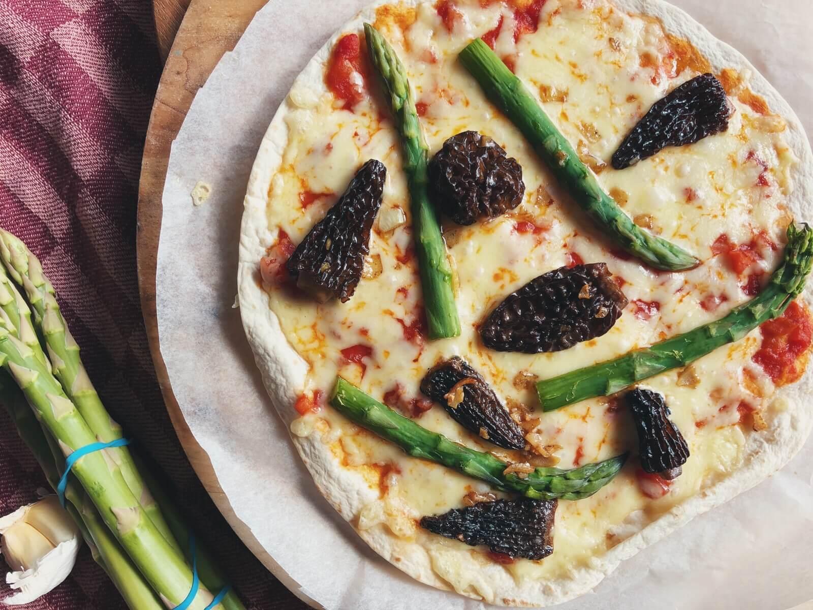 tortilla pizza med morkler
