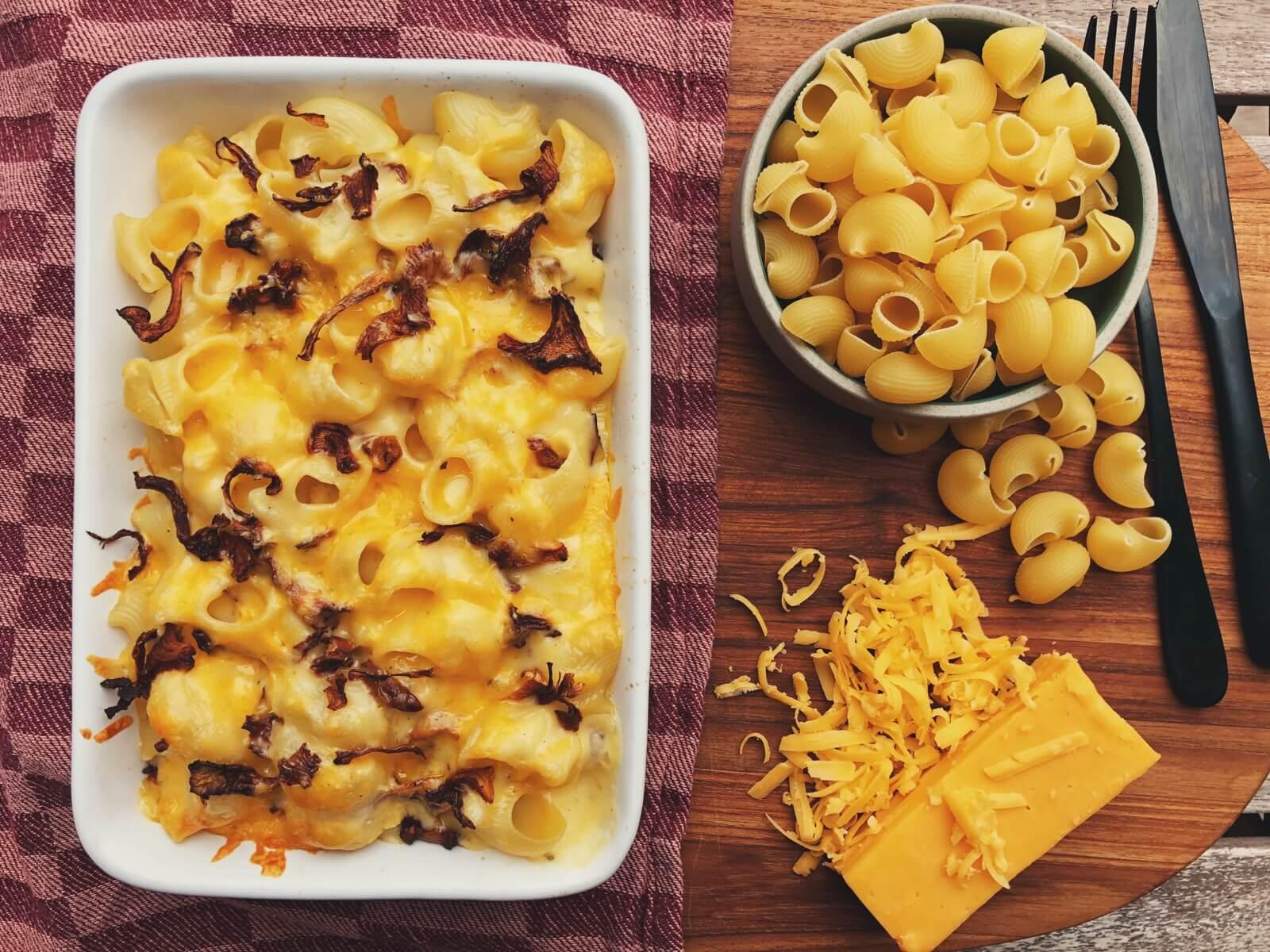 mac and cheese med kantarel