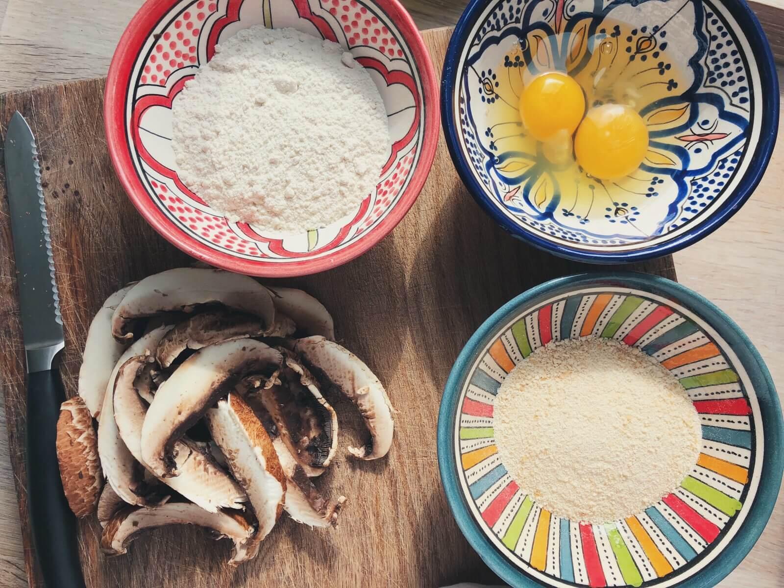 Portobello-fritter ingredienser