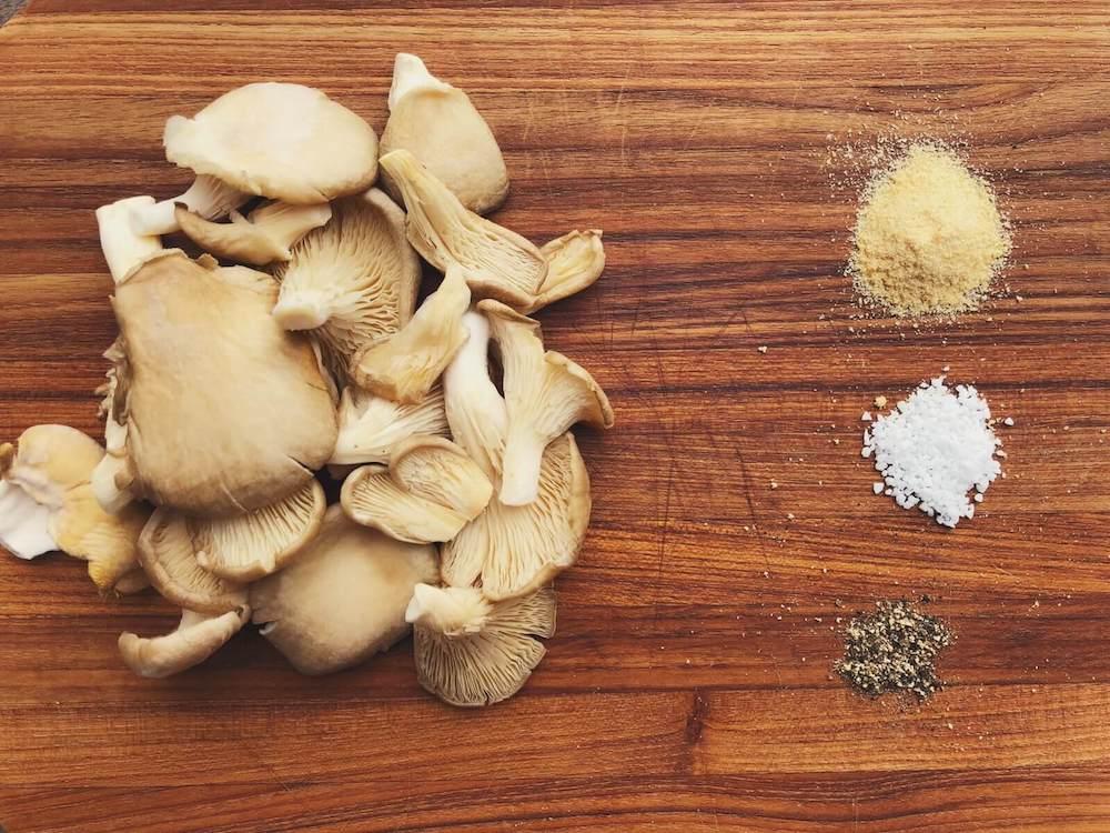 Østershatte i ovnen ingredienser