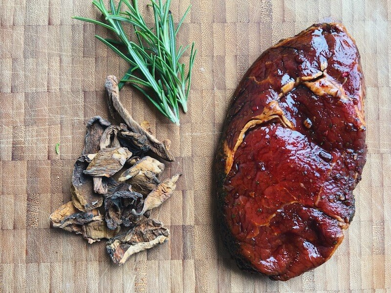 Rib-eye med Karl Johan rub ingredienser
