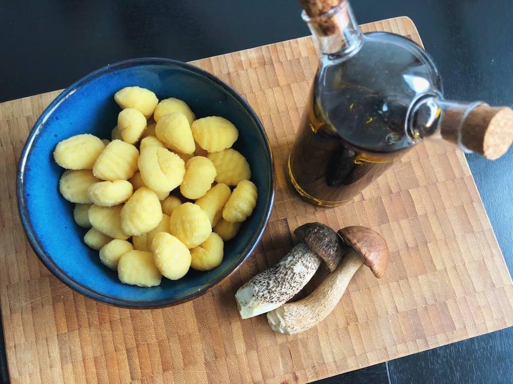 Gnocchi med Skælrørhat ingredienser