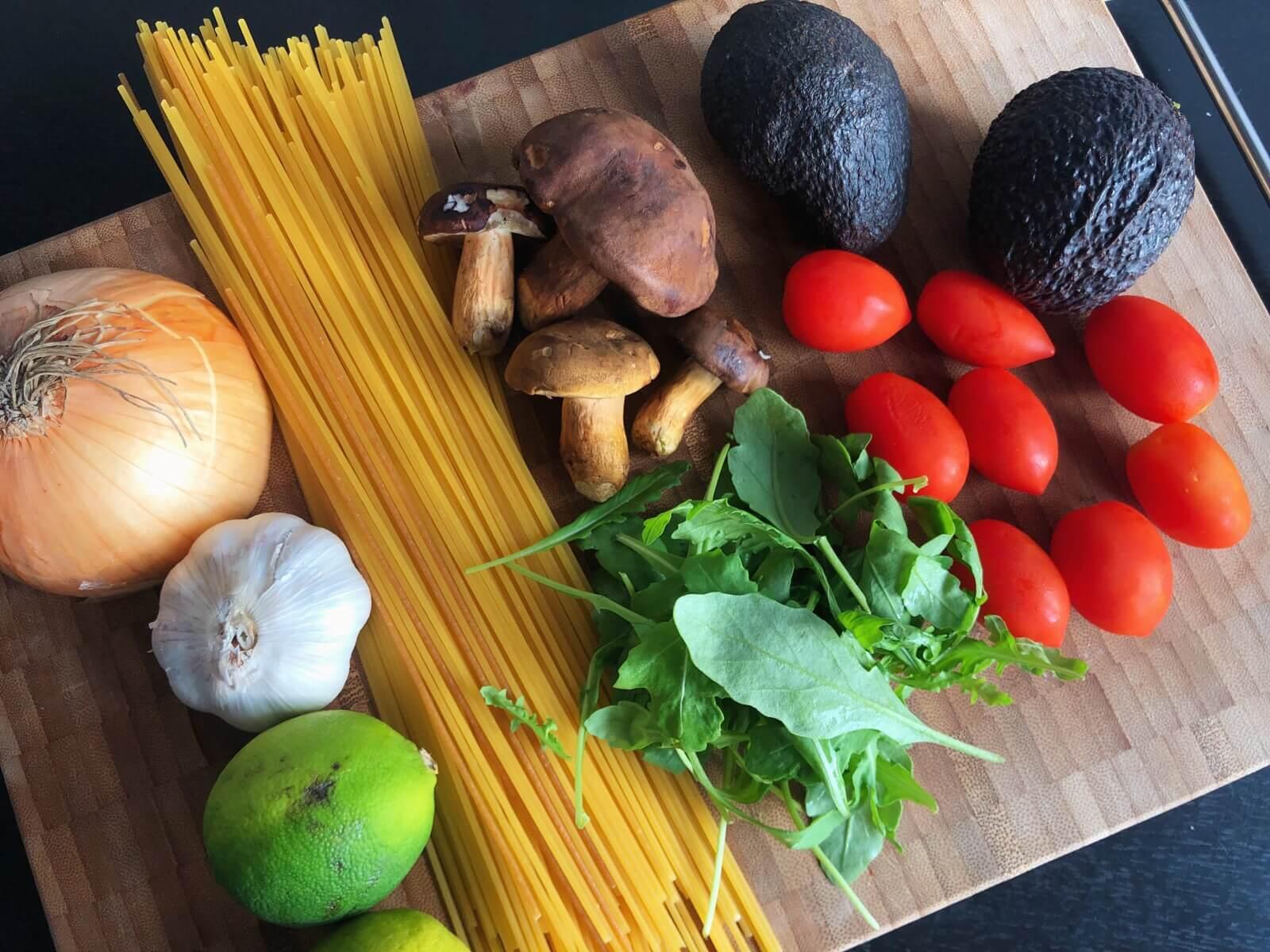 Pasta med Brunstokket Rørhat ingredienser